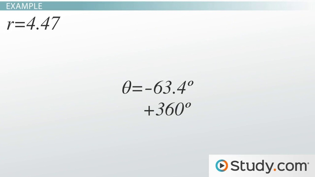 Complex Numbers In Polar Form Process Examples Video Lesson
