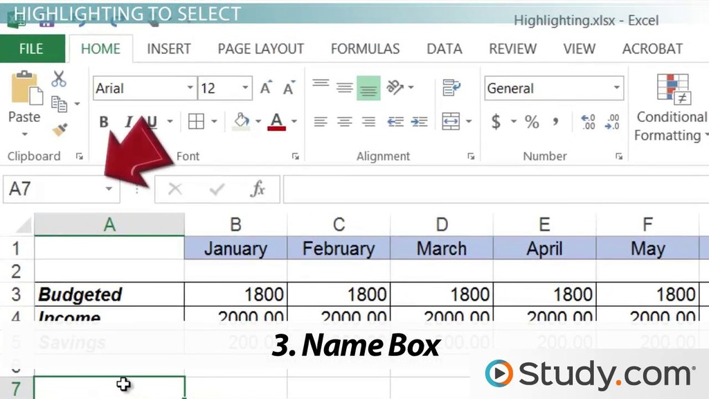 How To Highlight Cells In Excel Video Lesson Transcript