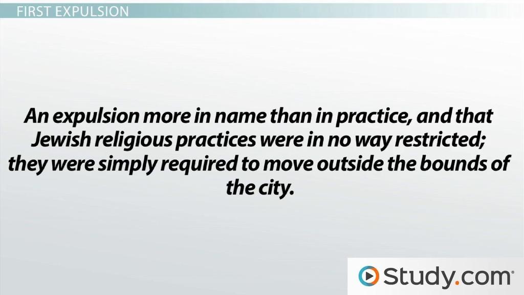 Roman Expulsion Of Judaism: Factors, Background, U0026 Events   Video U0026 Lesson  Transcript   Study.com
