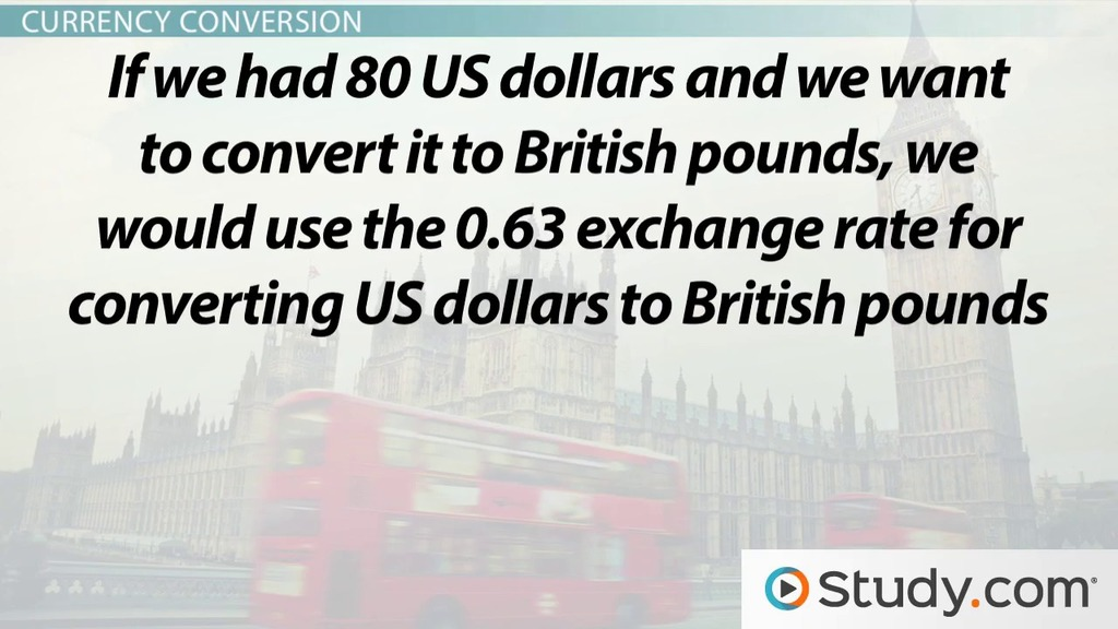 Exchange Rates Currency Conversion Video Lesson Transcript