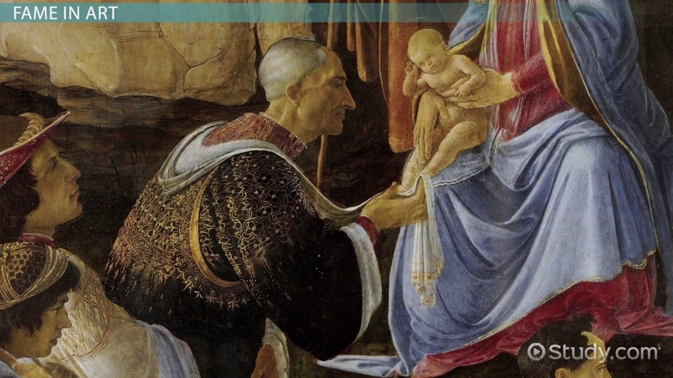 the theme of fame in renaissance art