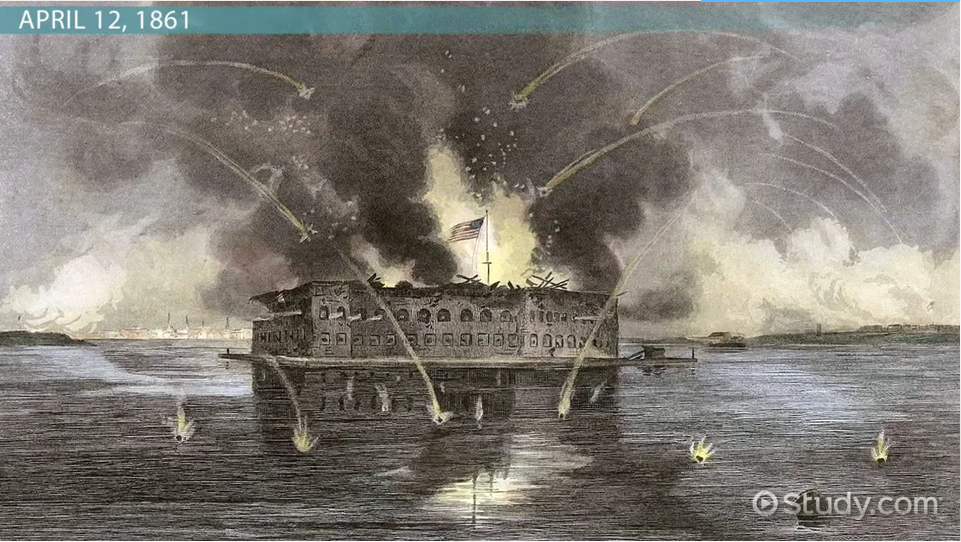 Who fired the first shot in fort sumter