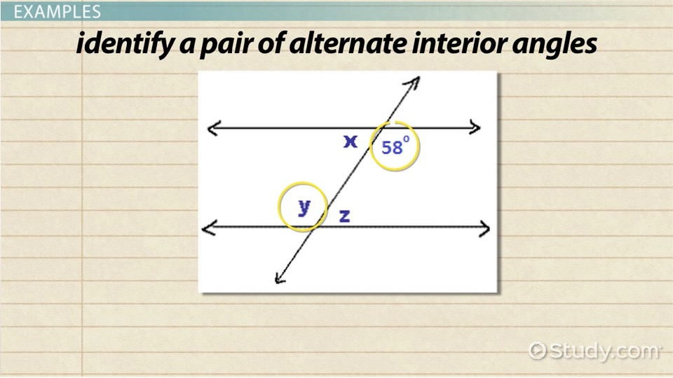 Alternate Interior Angles: Definition, Theorem & Examples