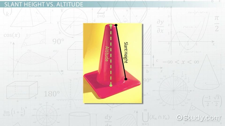 slant height  definition  u0026 formula