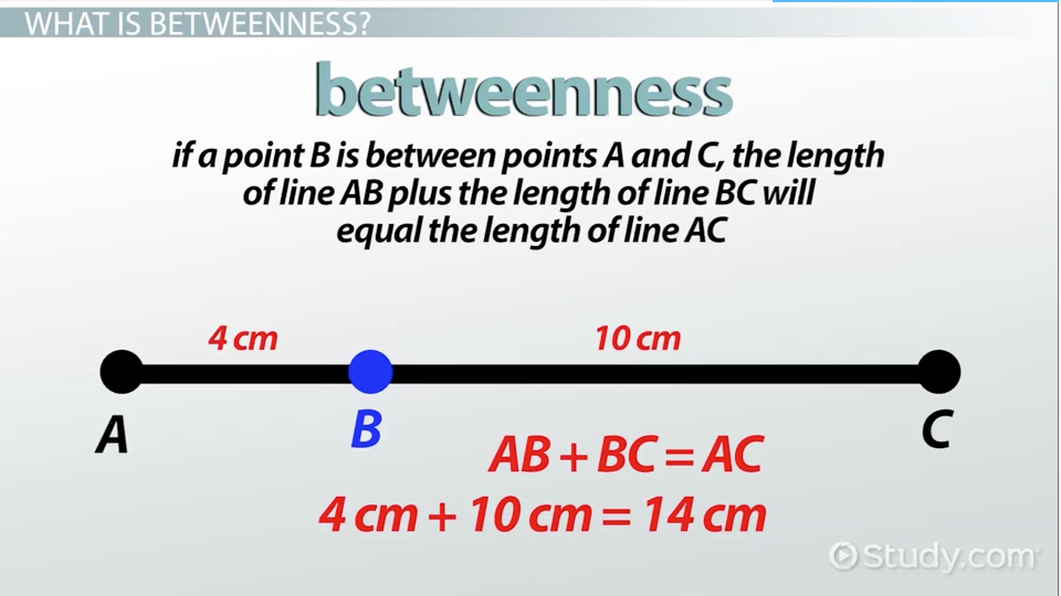Betweenness Of Points Definition Amp Problems Video