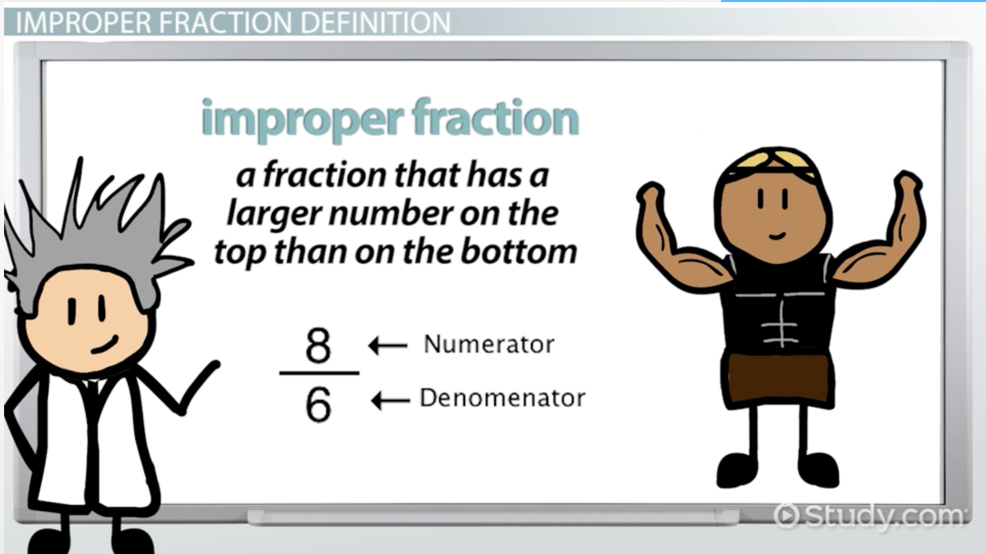 What Is An Improper Fraction?  Definition & Example  Video & Lesson  Transcript  Study