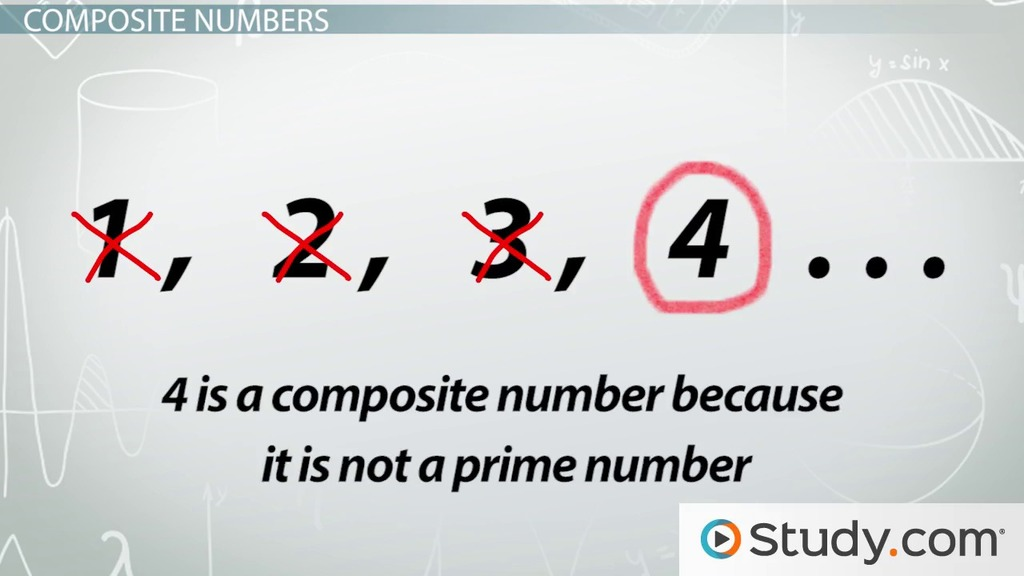Identifying Prime & Composite Numbers - Video & Lesson Transcript ...