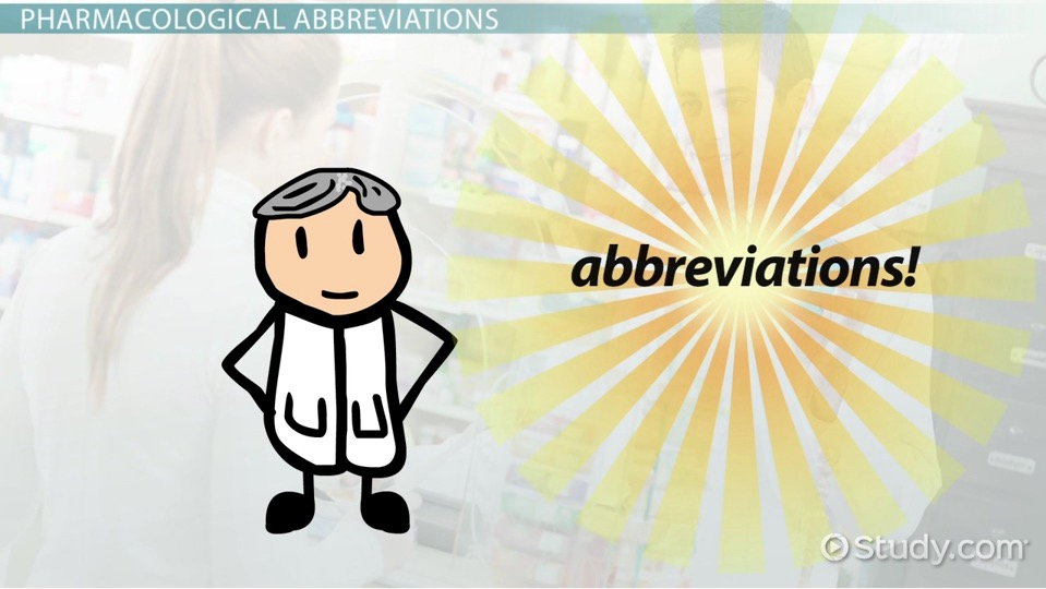 Common Pharmacological Administration Abbreviations Video Lesson