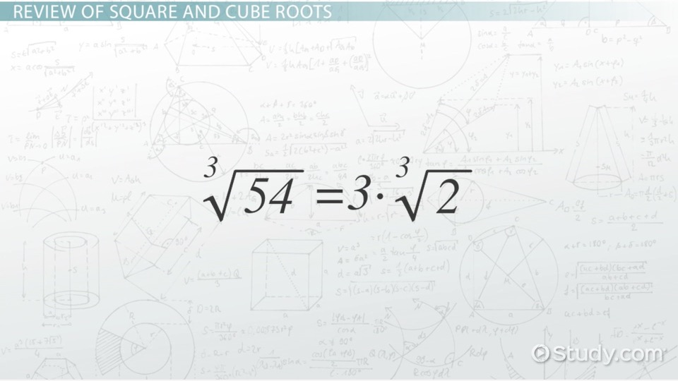 Printable Worksheets square roots and cube roots worksheets : Square & Cube Roots of Monomials - Video & Lesson Transcript ...