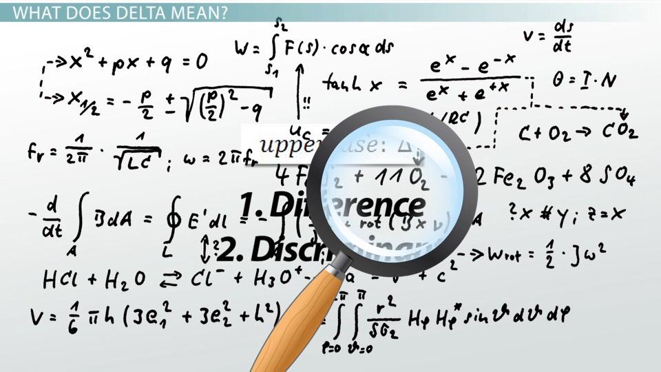 What Is Delta Definition Concept Video Lesson Transcript
