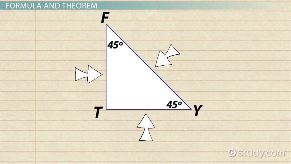 45 45 90 Triangle Theorem Rules Formula Video Lesson