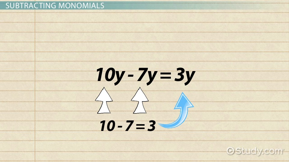 How to Add Subtract Monomials Video Lesson Transcript – Adding and Subtracting Monomials Worksheet