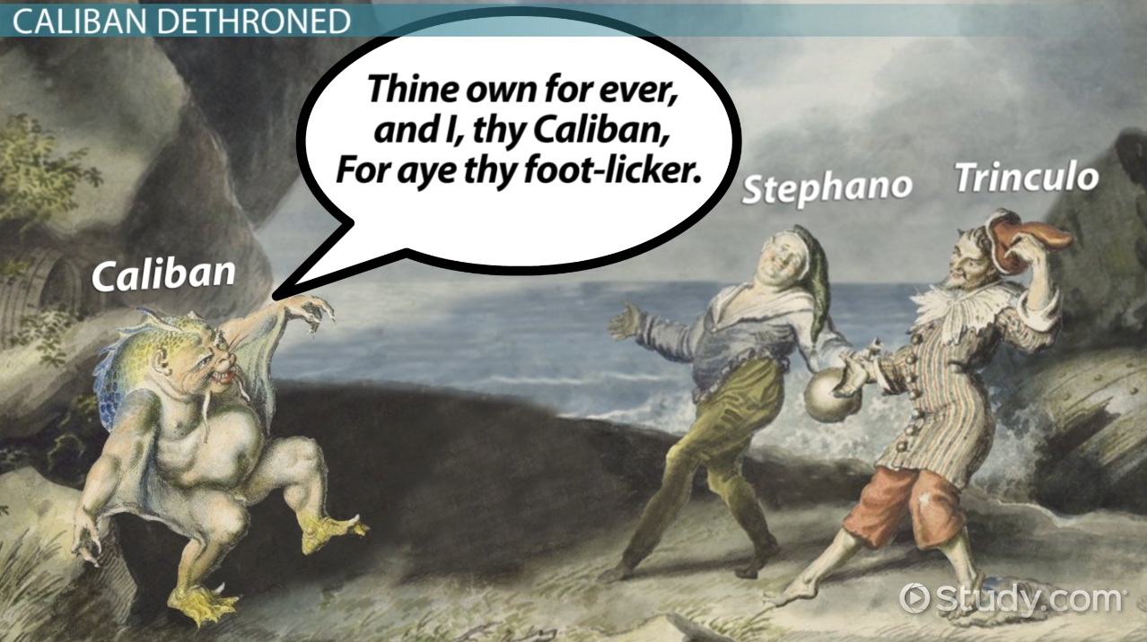an overview of the calibans response to trinculo and stephano in the tempest a play by william shake Of his knee still shows, abraded by play, or might 3 3 1 0 0 serif 3 in response to emerson's as shakespeare represents it in the tempest through.