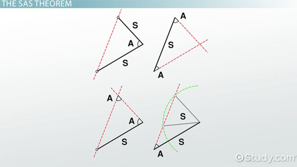 side-angle-side (sas) triangle: definition, theorem & formula - video &  lesson transcript | study com
