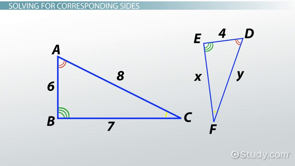 Similar Triangles: Definition, Formula & Properties - Video ...