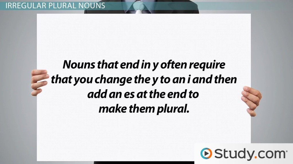 Singular & Plural Nouns: Definitions, Rules & Examples - Video