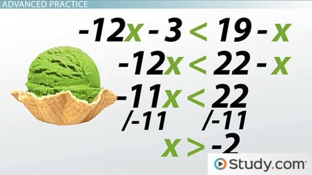 Solving Linear Inequalities Practice Problems Video Lesson