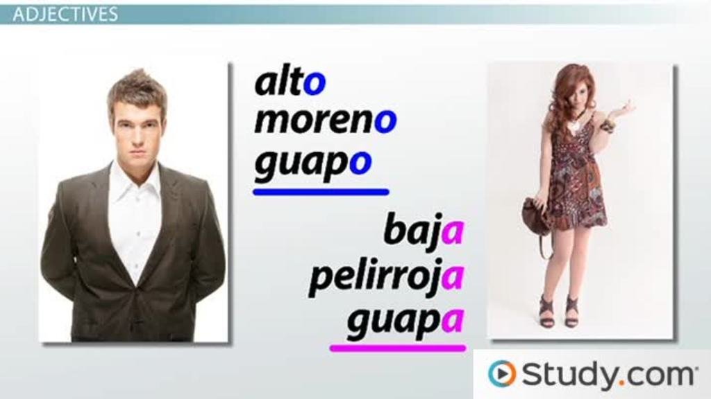 Spanish Vocabulary For Physical Traits Video Amp Lesson