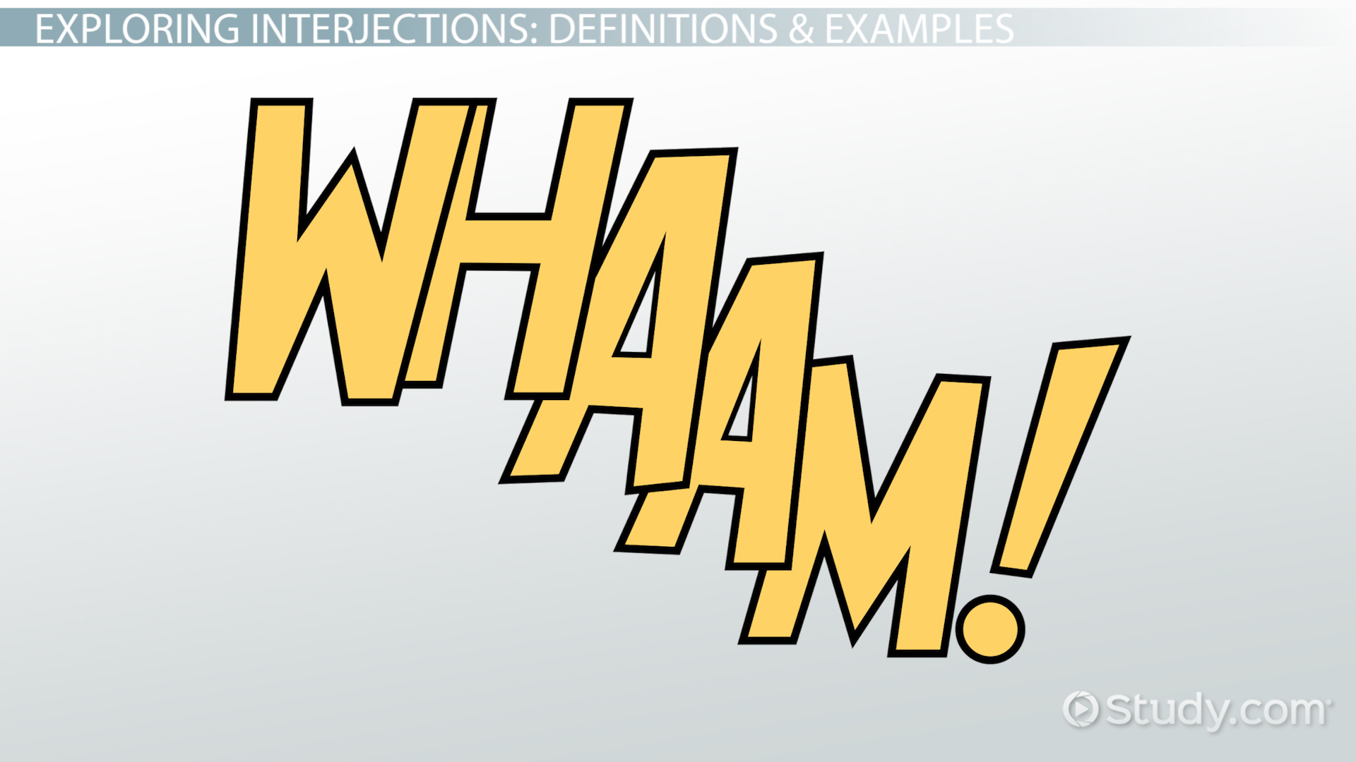 What Is An Interjection Definition Examples Video Lesson