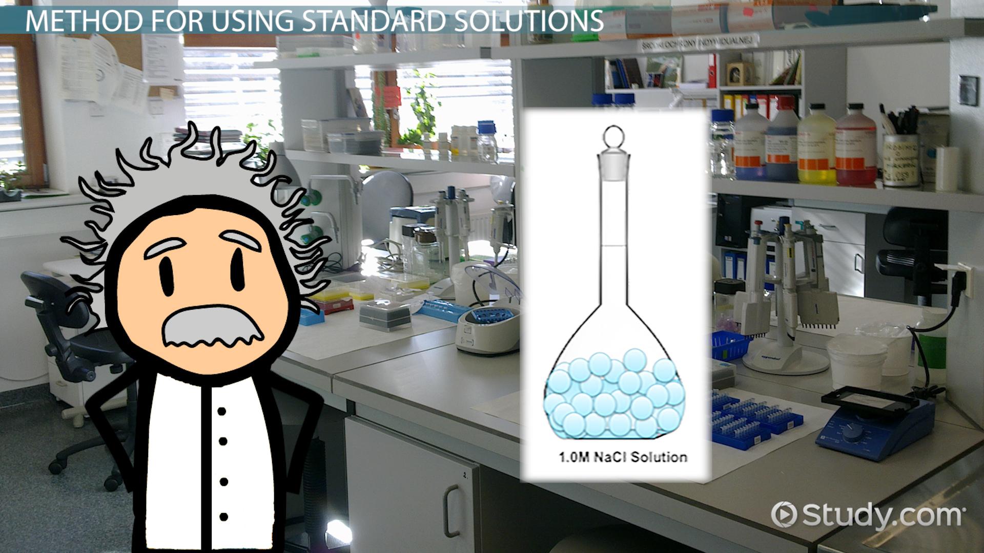 Standard Solution: Definition & Method - Video & Lesson Transcript ...