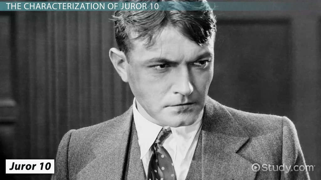 Juror 10 In 12 Angry Men Character Analysis Video Lesson