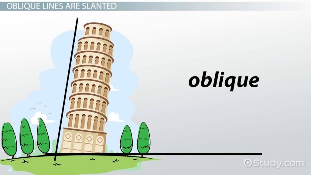 What is an Oblique Line? - Video & Lesson Transcript | Study.com