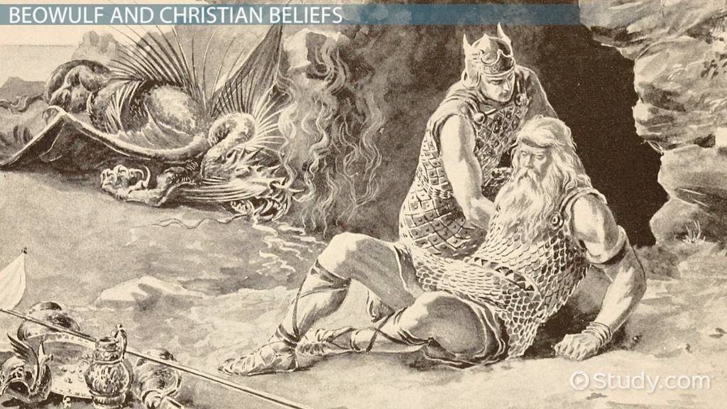 an analysis of aspects of christianity in beowulf 'beowulf' is an epic poem written in the medieval period it depicts an ancient culture through a hero narrative and includes numerous mentions of.