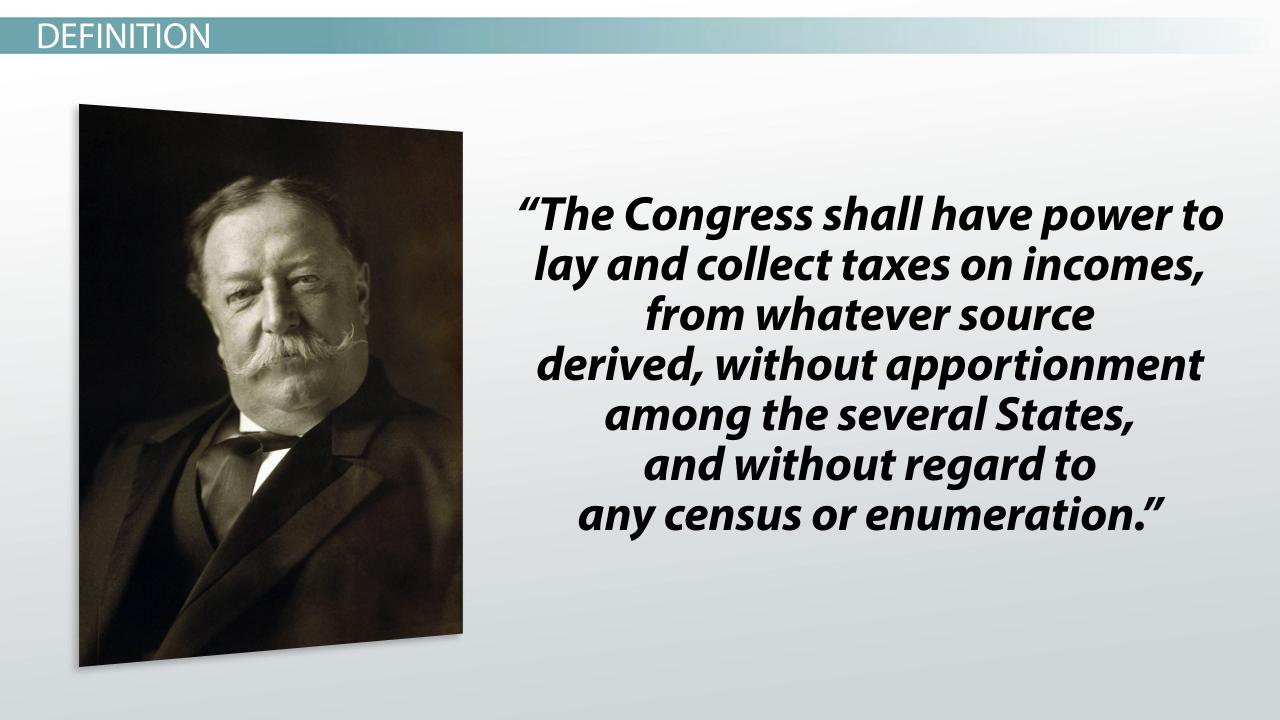 16th Amendment Examples The 16th Amendment Definition
