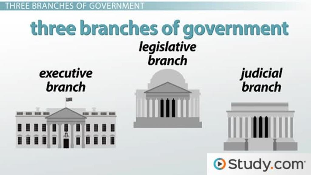 The 3 Branches of Government: Executive, Legislative