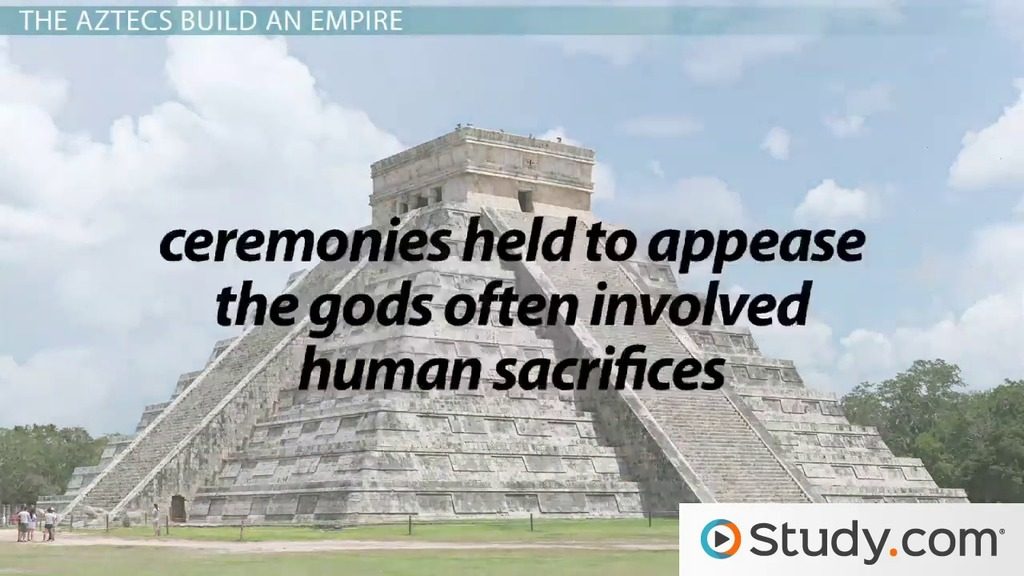 aztecs perform human sacrifices to appease the gods The aztecs belief in their gods and the belief of nourishing the gods by human sacrifice drove the aztecs to go perform sacrifices in order appease these.