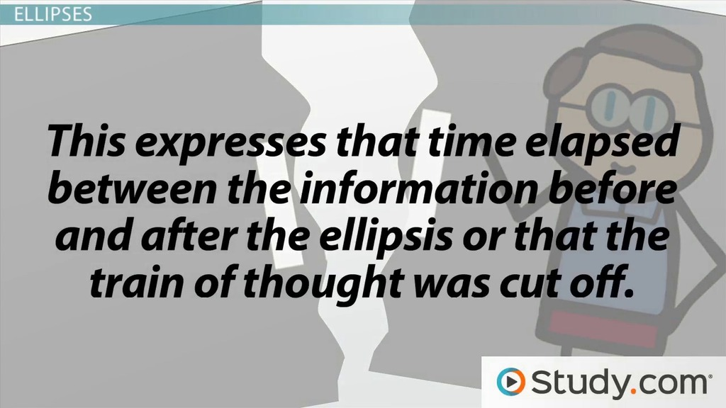 The purposes of the ellipsis and dashes video lesson transcript the purposes of the ellipsis and dashes video lesson transcript study fandeluxe Images