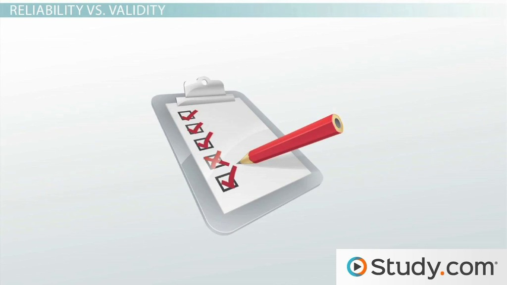 The Relationship Between Reliability Validity Video Lesson