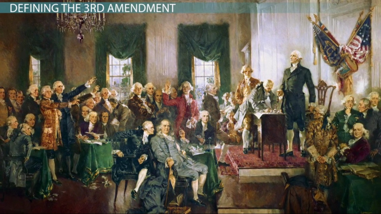 What Is The 3rd Amendment Definition Court Cases Video