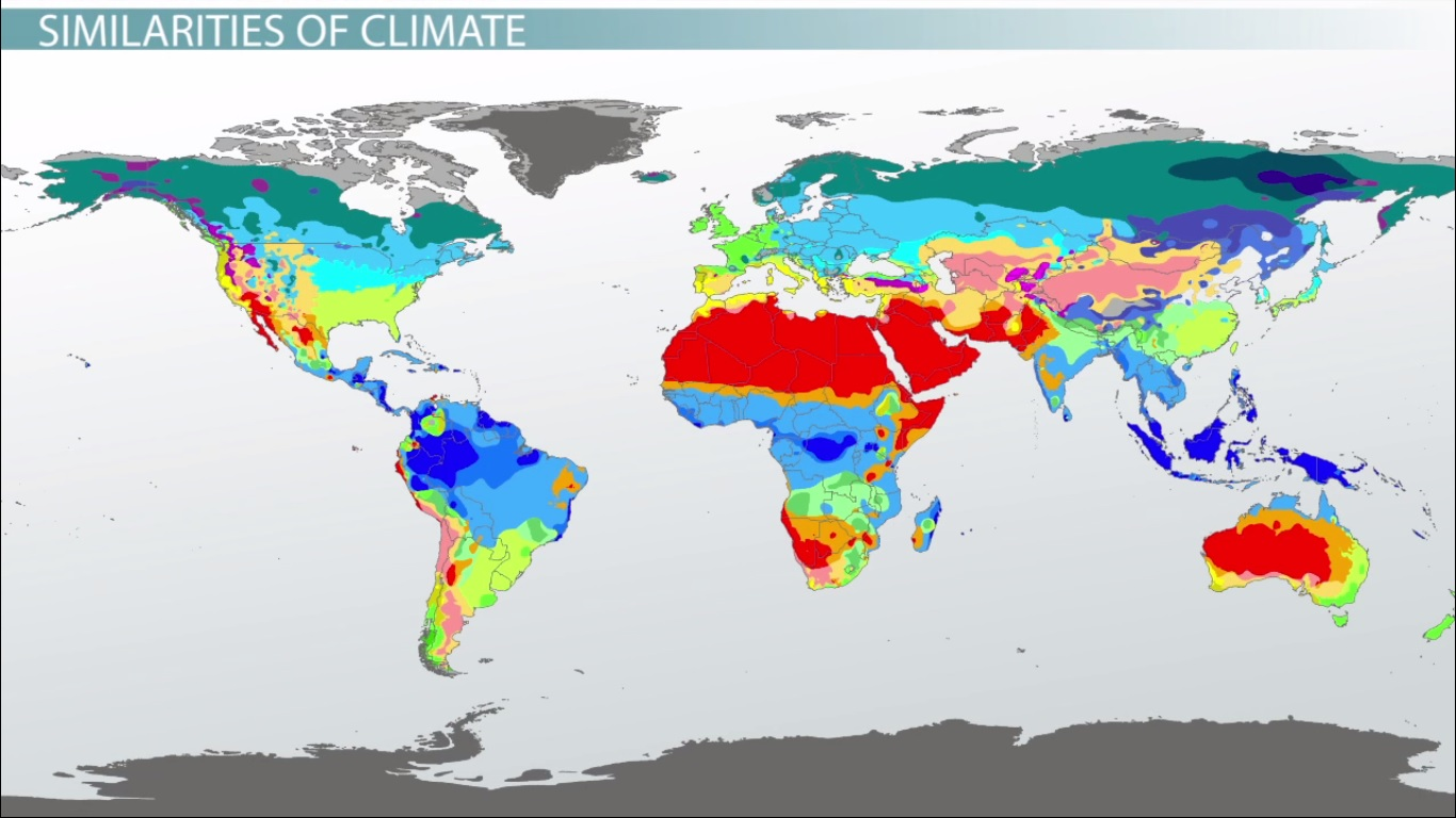 Map Of Africa Climate Zones.Major Climates In Africa The Middle East Video Lesson