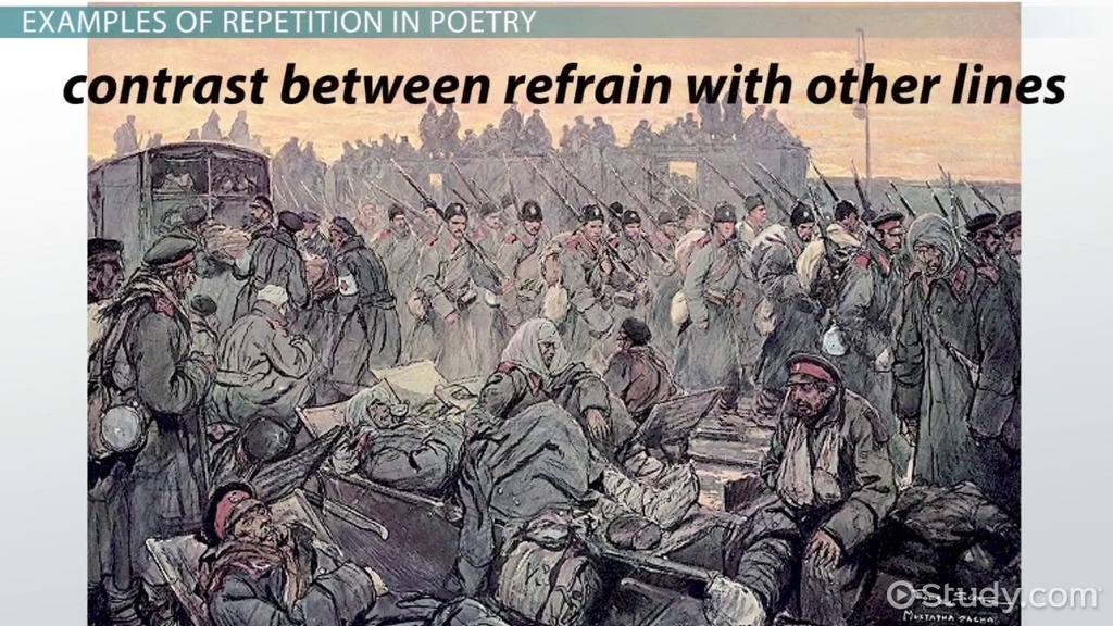 Repetition In Poems Examples Definition Video Lesson