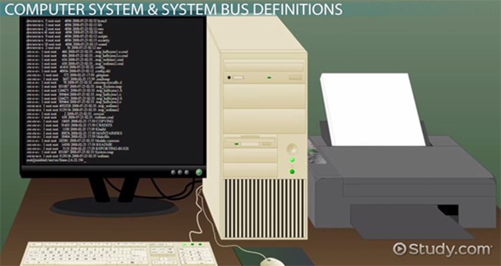 system bus in computers  definition  u0026 concept