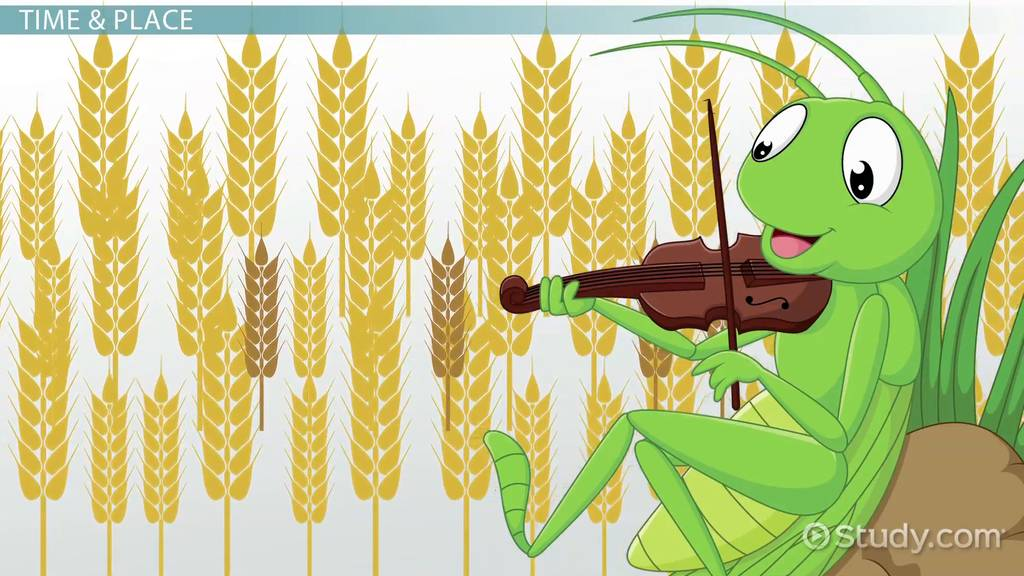 The Ant The Grasshopper Moral Themes Analysis Video Lesson