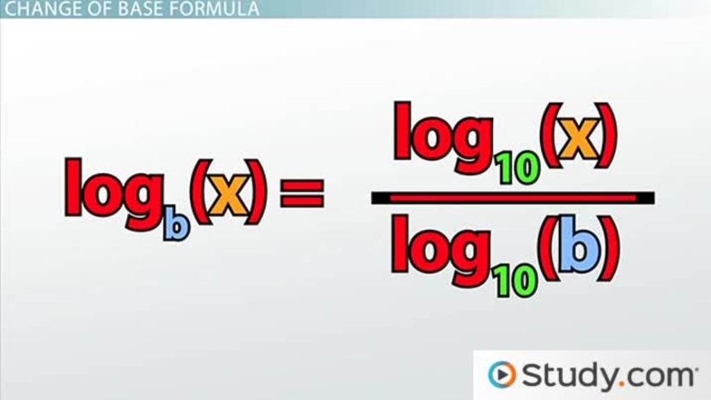Using The Change Of Base Formula For Logarithms Definition
