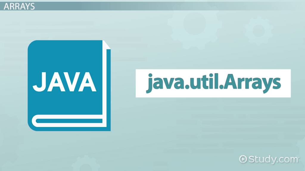 How to Sort an Array in Java - Video & Lesson Transcript | Study com