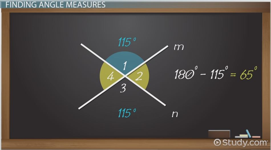 Vertical Angles in Geometry: Definition & Examples - Video & Lesson ...