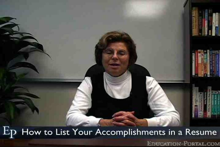How To List Your Accomplishments In A Resume Video