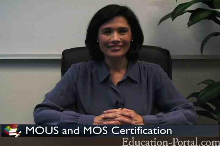 MOUS and MOS Certification Video: Becoming a Certified Microsoft ...