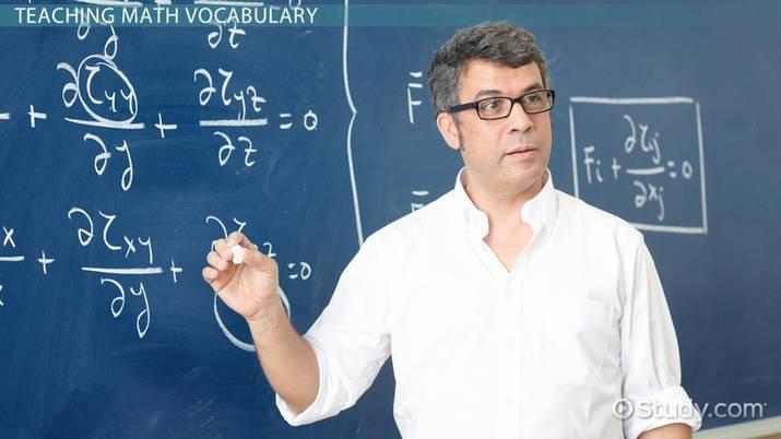 How to Teach Math Vocabulary - Video & Lesson Transcript | Study.com