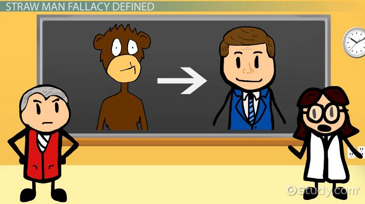 The Straw Man Fallacy: Definition & Examples - Video & Lesson ...