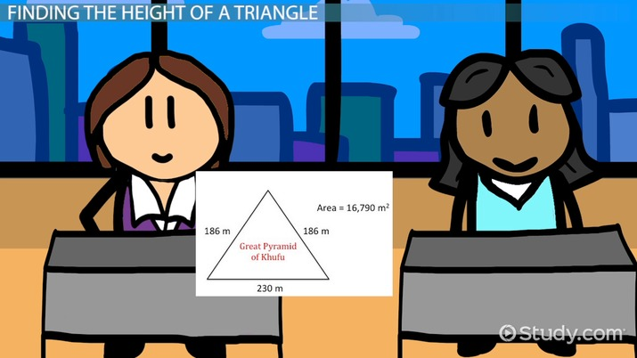 How To Find The Height Of A Triangle Video Lesson Transcript