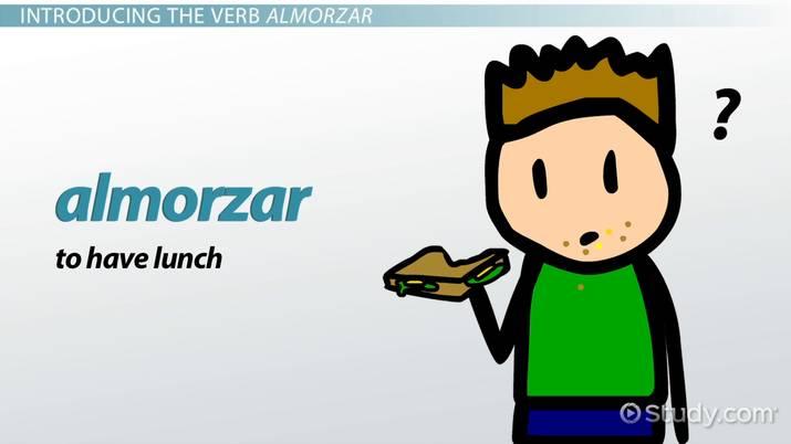 Almorzar Conjugation Command Preterite Video Lesson
