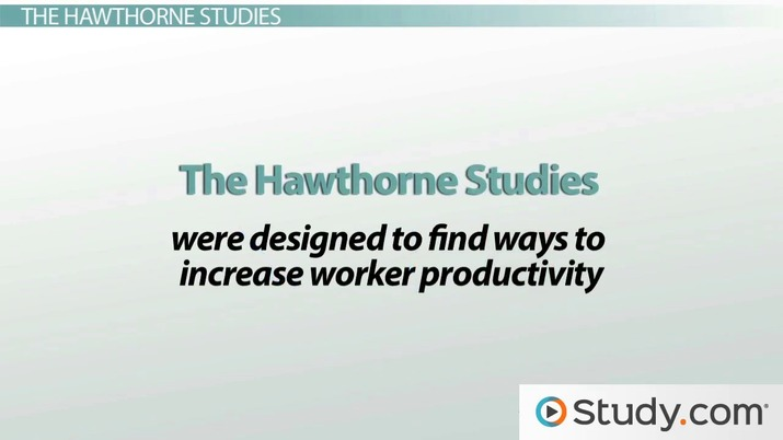 define hawthorne studies