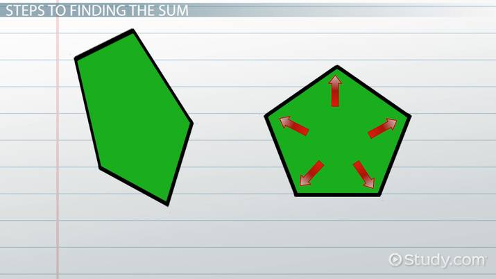 The Sum of Interior Angles of a Pentagon - Video & Lesson Transcript