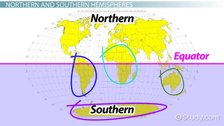 Four Hemispheres of the World: Definition & Map - Video & Lesson ...