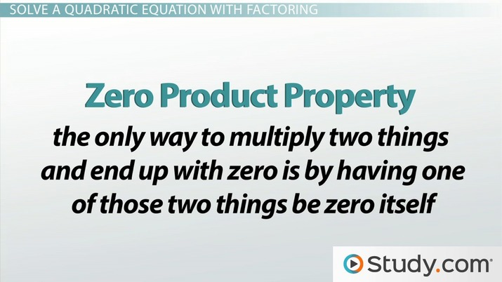 How To Solve A Quadratic Equation By Factoring Video